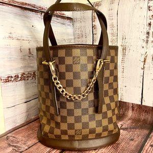Louis Vuitton Damier Ebene Bucket PM Bag